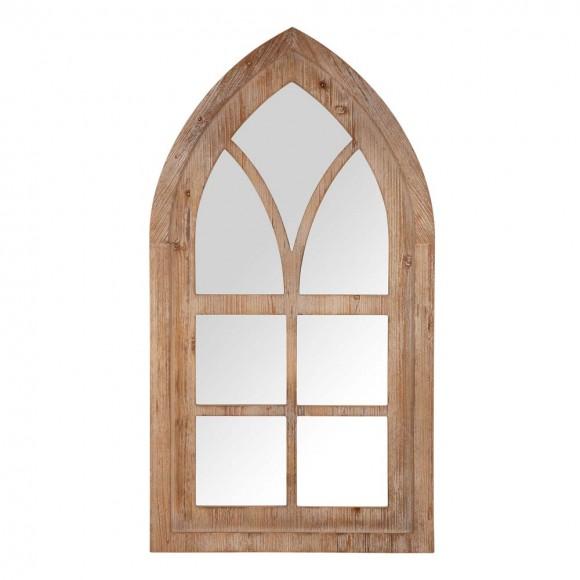 "Glitzhome 40.16""H Gothic Style Window Frame Wall Mirror Decor"