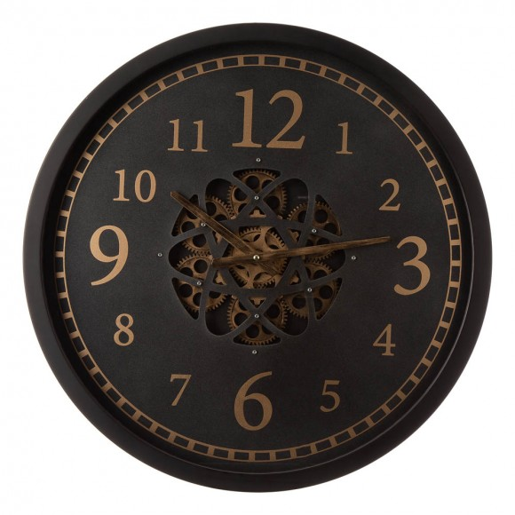 "Glitzhome 22.83""D Modern Oversized Metal Wall Clock with Moving Gears"