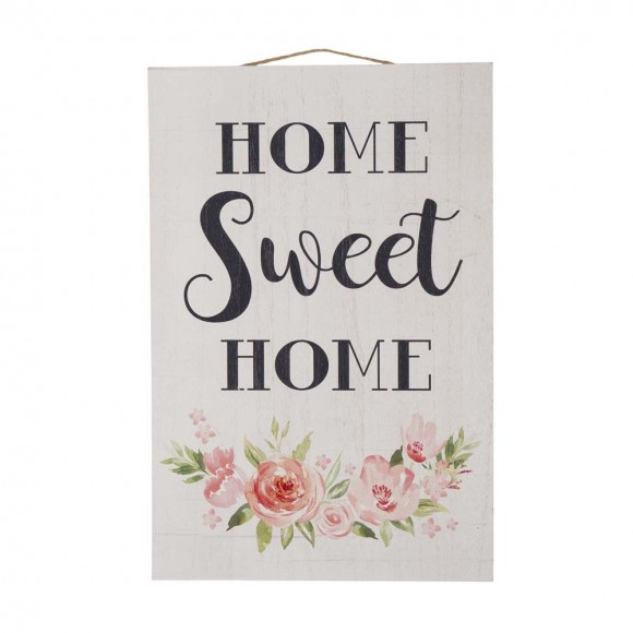 """Glitzhome 17.72 H"""" Wooden """"HOME SWEET HOME"""" Word Sign Wall Décor"""