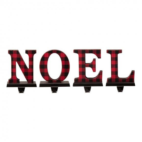 "Glitzhome Metal ""NOEL"" Christmas Stocking Holder Set of 4"