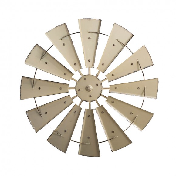 "Glitzhome 28.50""D Vintage Beige Metal Wind Spinner Wall Décor"
