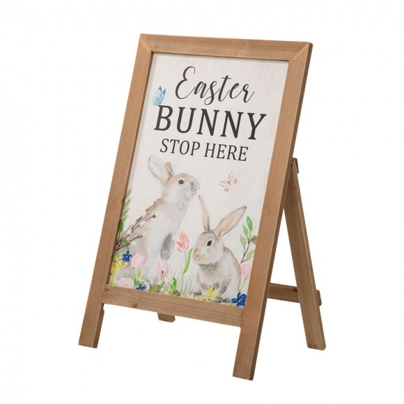 """Glitzhome 24""""H Easter Wooden Porch Sign / Standing Décor"""
