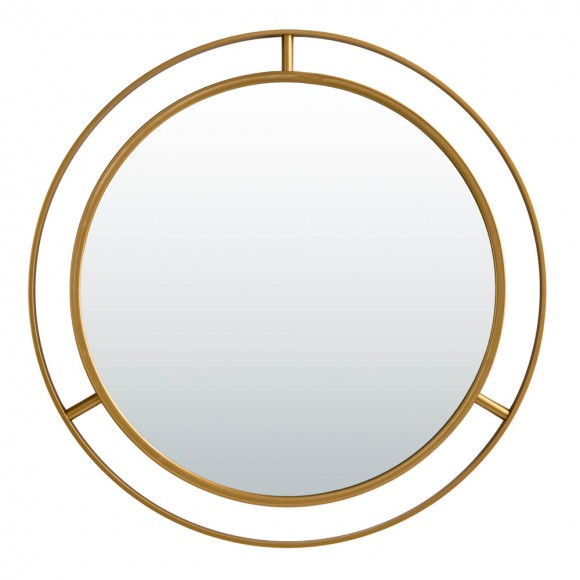 """【PRE-SALE】Glitzhome 28.00""""D Oversized Glam Gold Metal Round Wall Mirror — Ship After 2/28, 2021"""