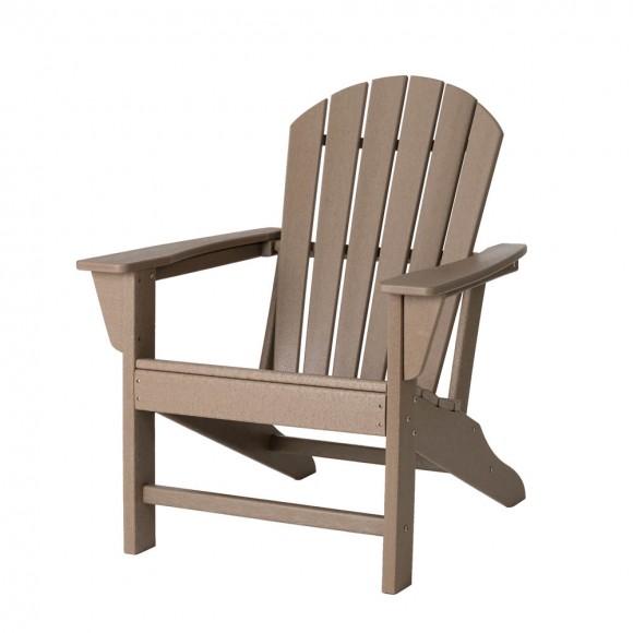 Elm PLUS Tan Recycled Plastic Outdoor Adirondack Chair