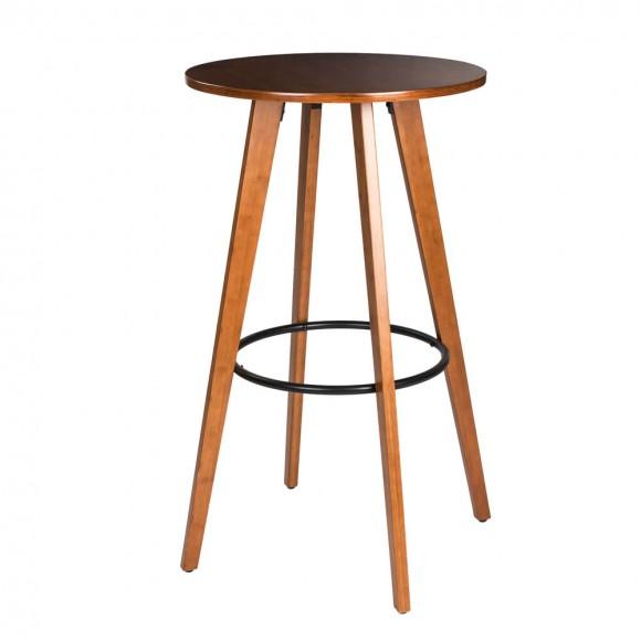 """Glitzhome 40.25""""H Bamboo Round Bar Table"""