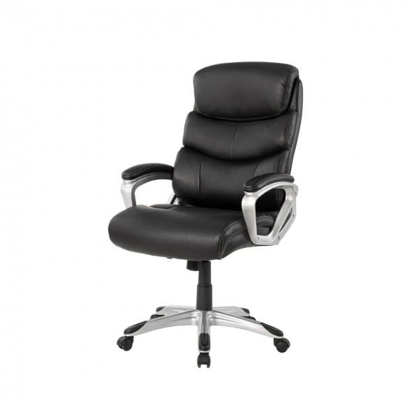Elm PLUS Black PU Leather Gaslift Adjustable Height Swivel Office Chair