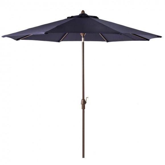 Elm PLUS 10 ft. Aluminum Auto Tilt Market Patio Umbrella in Navy Blue Olefin