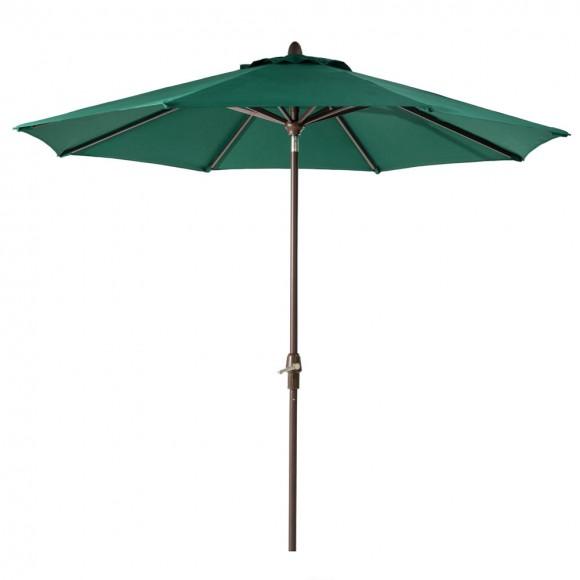 Elm PLUS 10 ft. Aluminum Auto Tilt Market Patio Umbrella in Dark Green Olefin