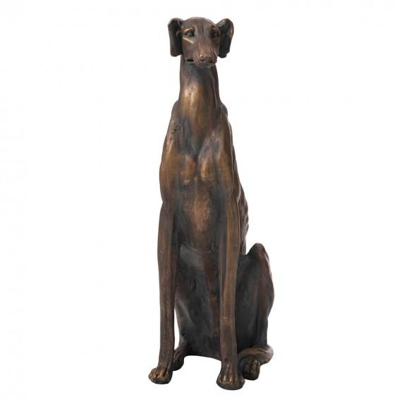 "【Pre-Order】Glitzhome 30.25""H MGO Sitting Greyhound Dog Statue — Ship After 9/23, 2021"