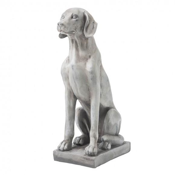 """Glitzhome 28.25""""H MGO Sitting Labrador Retriever Dog Statue"""