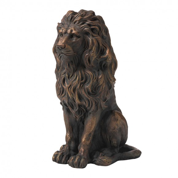 """【Pre-Order】Glitzhome 20.75""""H MGO Guardian Sitting Lion Statue — Ship After 9/23, 2021"""