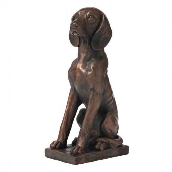 "Glitzhome 19""H MGO Sitting Golden Retriever Dog Statue"