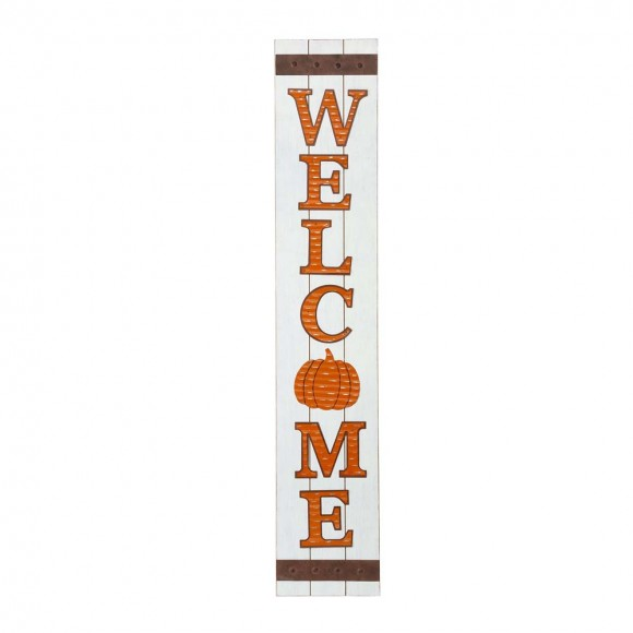 """Glitzhome 42""""H Fall Wooden """"WELCOME"""" Porch Board Sign"""