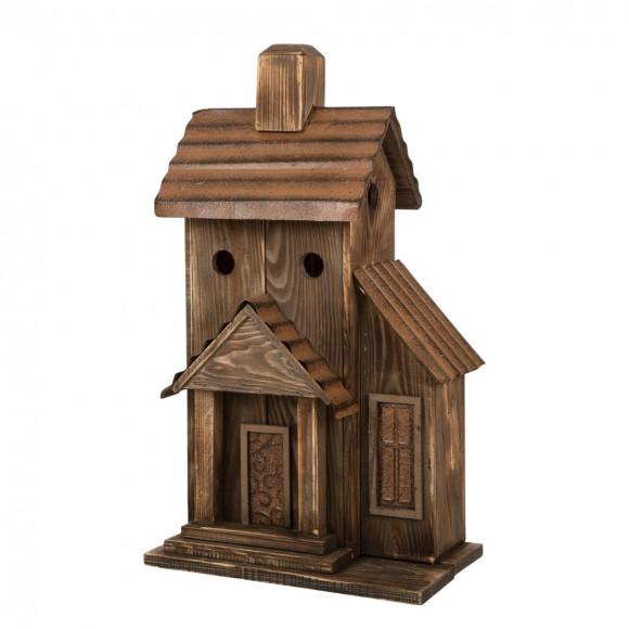 "Glitzhome Natural Birdhouse 24.02""H Rustic Wood Bird House"