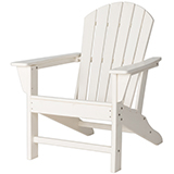 White Recycled Plastic Outdoor Adirondack Chair