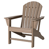 Tan Recycled Plastic Outdoor Adirondack Chair