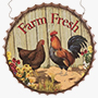 Bottle Cap Farm Wall Decor Hanging Decor Chicken