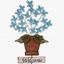 Garden Iron Flowers Planter Decorative Yard Stake