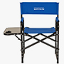 Foldable Metal Director Chair with Armerest Table, Navy Blue