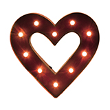 LED Lighted Heart